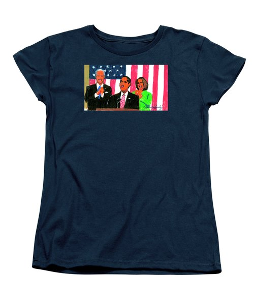 Obama's State Of The Union '10 Women's T-Shirt (Standard Cut) by Candace Lovely