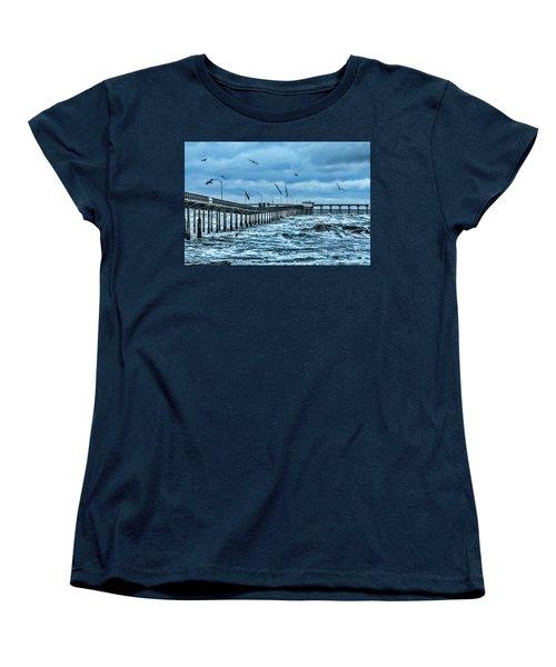 Ocean Beach Fishing Pier Women's T-Shirt (Standard Cut)