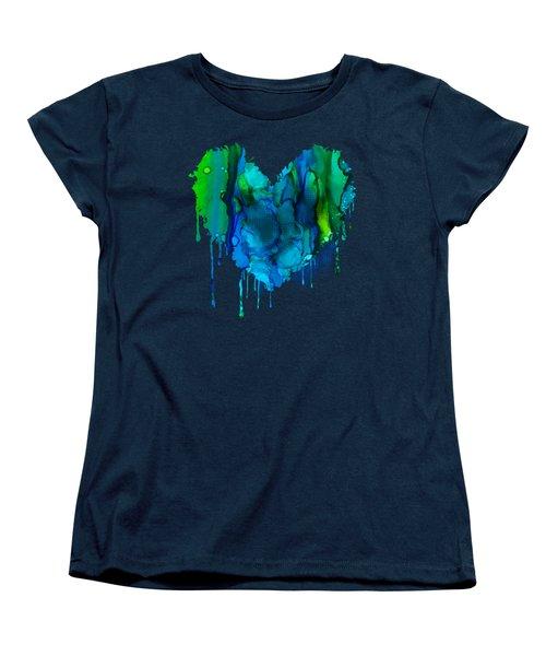 Women's T-Shirt (Standard Cut) featuring the painting Ocean Depths by Nikki Marie Smith