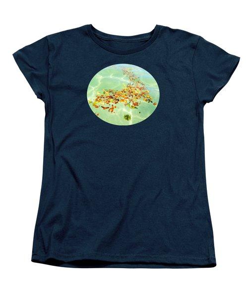 Women's T-Shirt (Standard Cut) featuring the photograph Ocean Flowers Oval by Linda Hollis