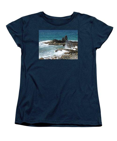 Ocean Spray Mid-air Women's T-Shirt (Standard Cut) by Margaret Brooks