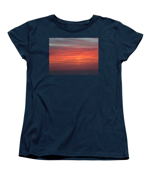 Ocean Sunrise Women's T-Shirt (Standard Cut) by Kathy Long