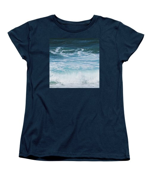 Ocean Waves From The Depths Of The Stars Women's T-Shirt (Standard Cut) by Sharon Mau