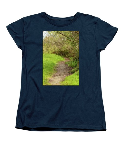 Women's T-Shirt (Standard Cut) featuring the photograph Oceano Lagoon Trail by Art Block Collections