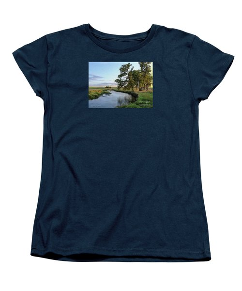 Ocheyedan Evening Women's T-Shirt (Standard Cut) by Bruce Morrison