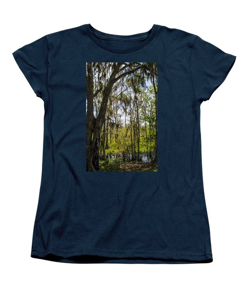 Ocklawaha Spanish Moss In The Swamp Women's T-Shirt (Standard Cut) by Deborah Smolinske