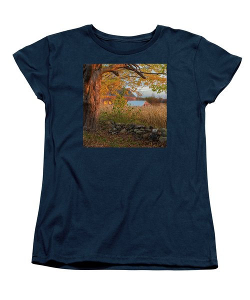 Women's T-Shirt (Standard Cut) featuring the photograph October Morning 2016 Square by Bill Wakeley