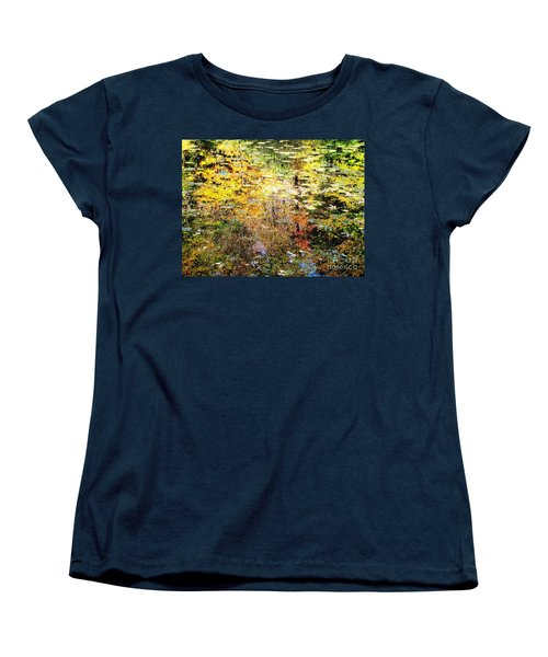 Women's T-Shirt (Standard Cut) featuring the photograph October Pond by Melissa Stoudt