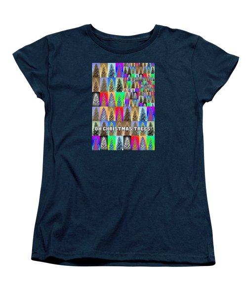 Oh Christmas Trees Women's T-Shirt (Standard Cut) by Jodie Marie Anne Richardson Traugott          aka jm-ART