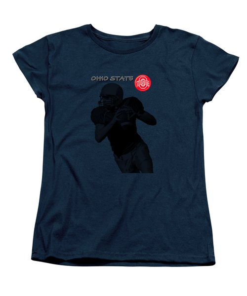 Ohio State Football Women's T-Shirt (Standard Cut) by David Dehner