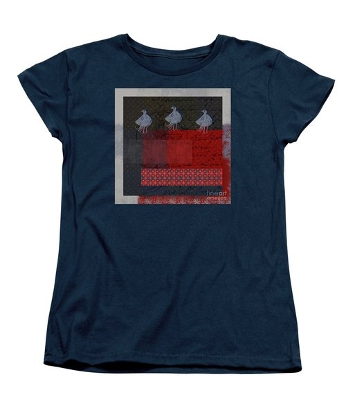 Women's T-Shirt (Standard Cut) featuring the digital art Oiselot - S23 by Variance Collections