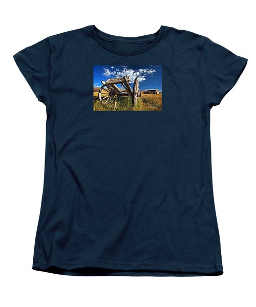 Old Abandoned Wagon, Bodie Ghost Town, California Women's T-Shirt (Standard Cut) by Sam Antonio Photography