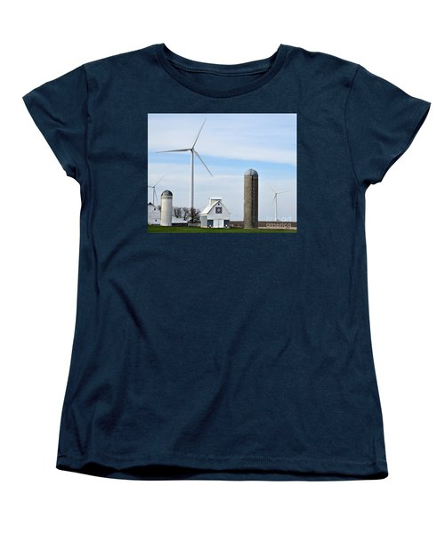 Old And New Farm Site Women's T-Shirt (Standard Cut) by Kathy M Krause