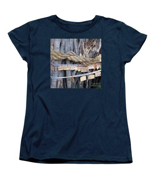 Old Banyan Wishing Tree Women's T-Shirt (Standard Cut) by Yali Shi