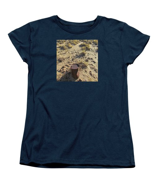 Women's T-Shirt (Standard Cut) featuring the photograph Old Beer Can by Brenda Pressnall