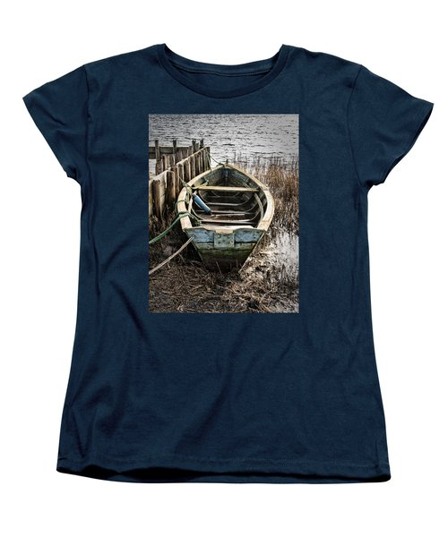 Old Boat Women's T-Shirt (Standard Cut) by Mike Santis