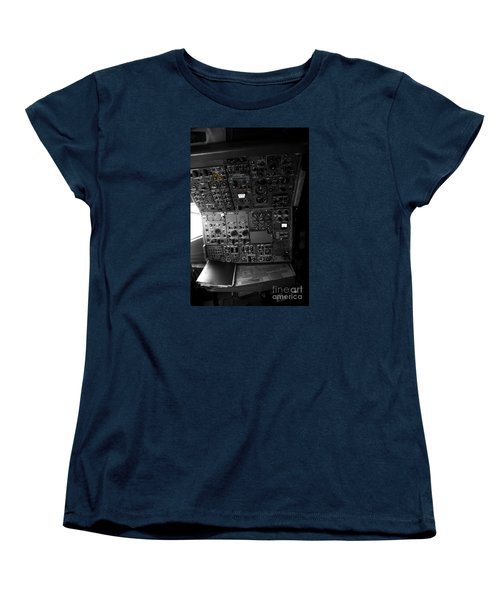 Old Boeing 727 Cockpit Women's T-Shirt (Standard Cut) by Micah May