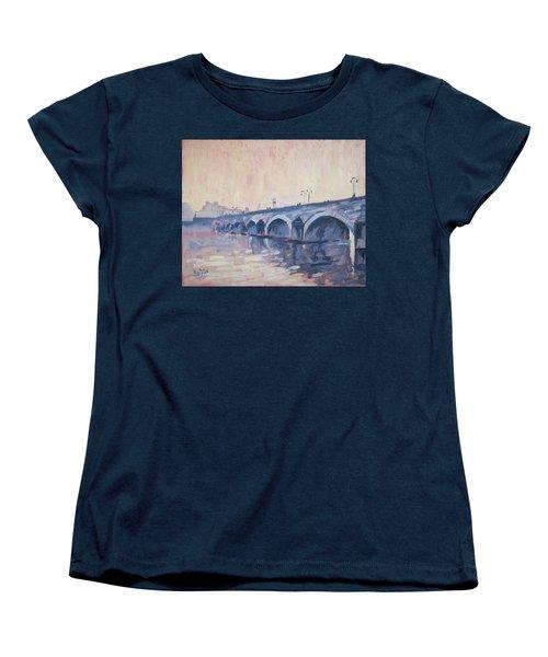 Old Bridge Of Maastricht In Warm Diffuse Autumn Light Women's T-Shirt (Standard Cut) by Nop Briex