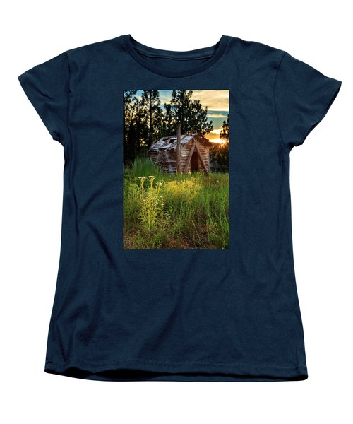Old Cabin At Sunset Women's T-Shirt (Standard Cut)