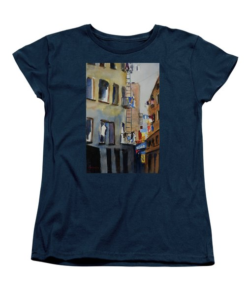 Old Chinatown Lane Women's T-Shirt (Standard Cut) by Tom Simmons