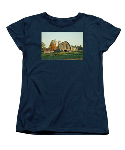 Old Country Barn_9302 Women's T-Shirt (Standard Cut) by Michael Peychich