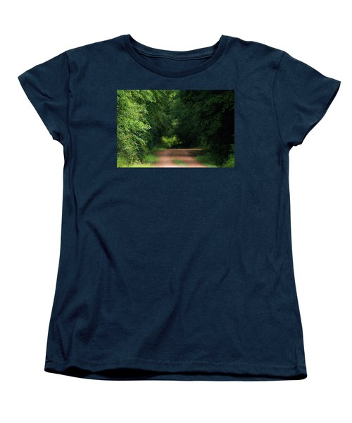 Women's T-Shirt (Standard Cut) featuring the photograph Old Dirt Road by Shelby Young