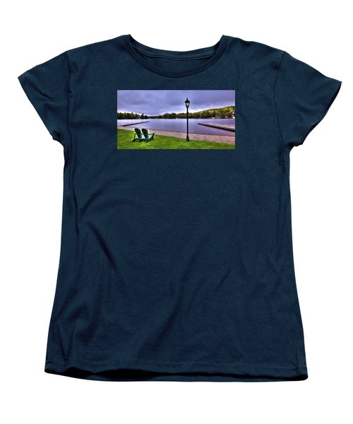 Old Forge Waterfront Women's T-Shirt (Standard Cut) by David Patterson