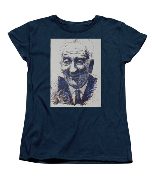 Women's T-Shirt (Standard Cut) featuring the drawing Old Fred. by Mike Jeffries