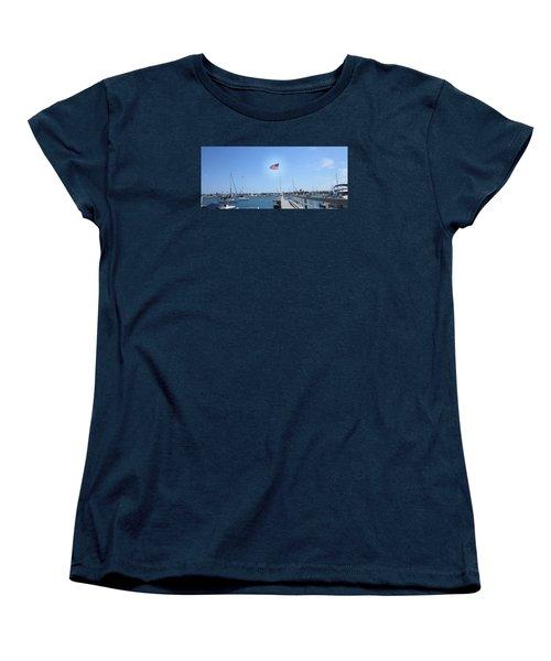 Old Glory 2 Women's T-Shirt (Standard Cut) by Dan Twyman
