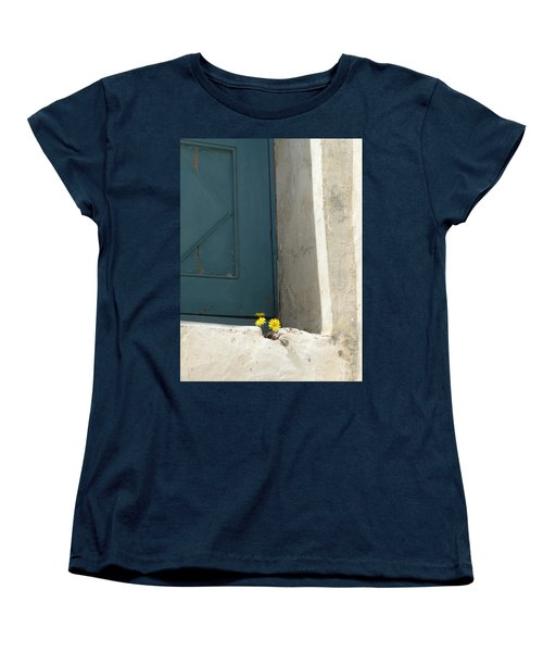 Old Greek Door Women's T-Shirt (Standard Cut) by Valerie Ornstein