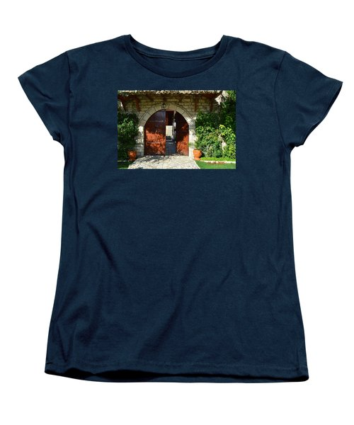 Old House Door Women's T-Shirt (Standard Cut) by Nuri Osmani