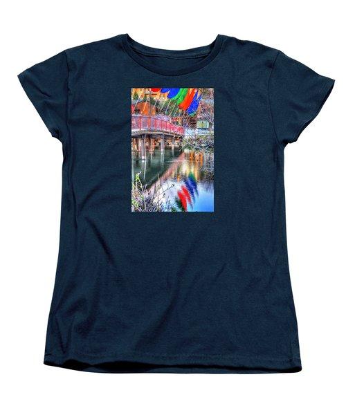 Old Mill Foot Bridge 481 Women's T-Shirt (Standard Cut) by Jerry Sodorff