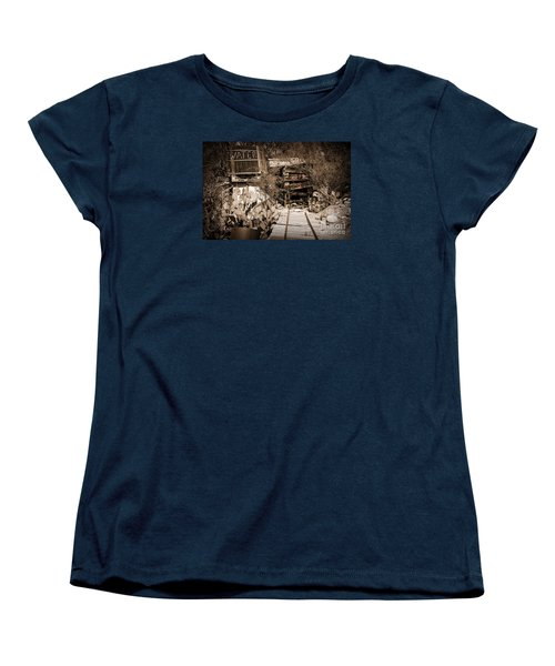Women's T-Shirt (Standard Cut) featuring the photograph Old Mining Tracks by Kirt Tisdale