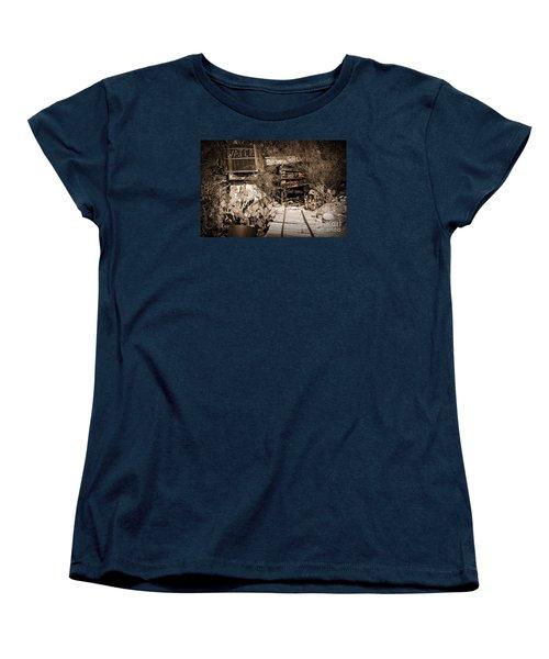 Old Mining Tracks Women's T-Shirt (Standard Cut) by Kirt Tisdale