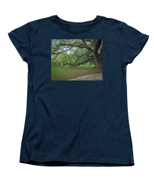Women's T-Shirt (Standard Cut) featuring the photograph Old Oak Tree by Gregory Daley  PPSA