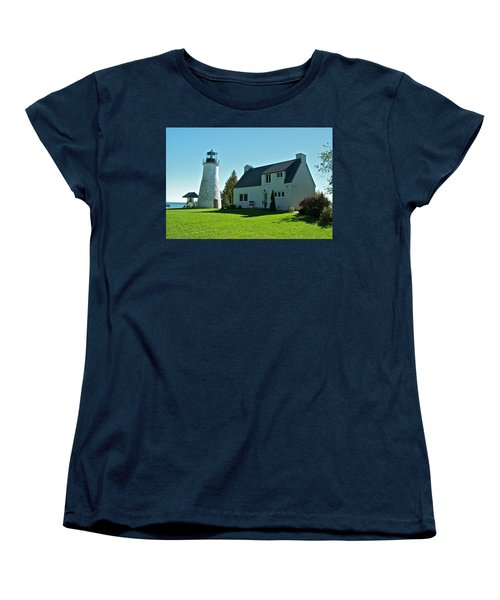 Old Presque Isle Lighthouse_9480 Women's T-Shirt (Standard Cut) by Michael Peychich