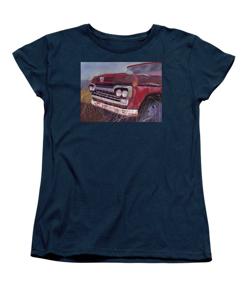 Old Red Women's T-Shirt (Standard Cut) by Arlene Crafton