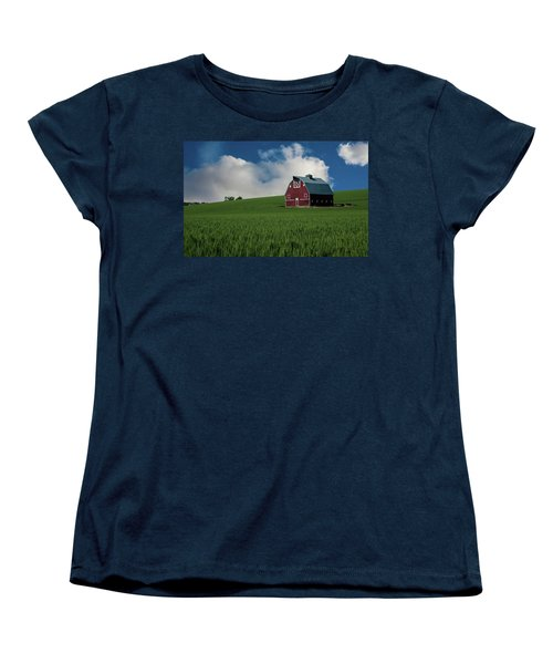 Old Red Barn In The Palouse Women's T-Shirt (Standard Cut) by James Hammond