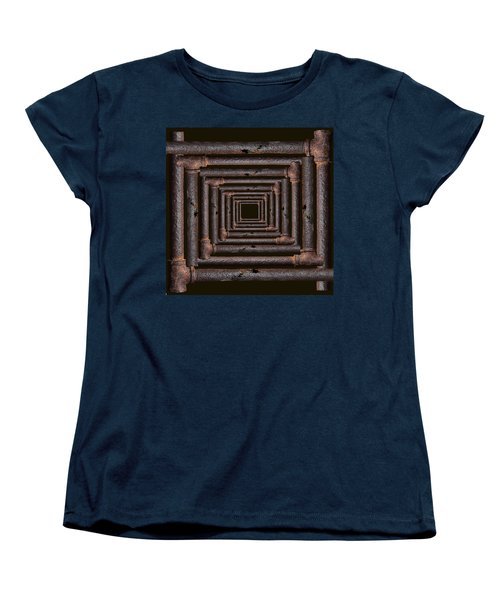 Women's T-Shirt (Standard Cut) featuring the mixed media Old Rusty Pipes by Viktor Savchenko
