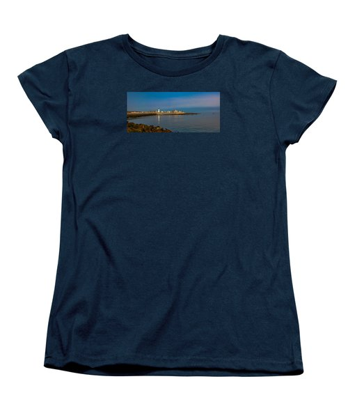 Old Scituate Light From The Jetty Women's T-Shirt (Standard Cut) by Brian MacLean