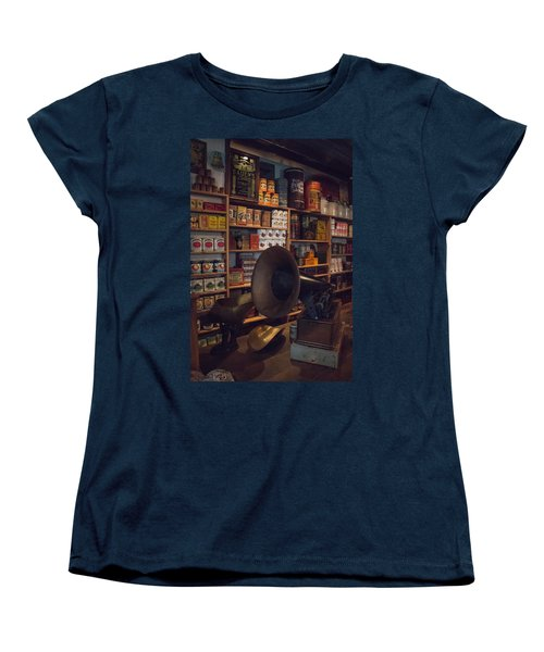 Women's T-Shirt (Standard Cut) featuring the photograph Old Shopping Days by Kathleen Scanlan