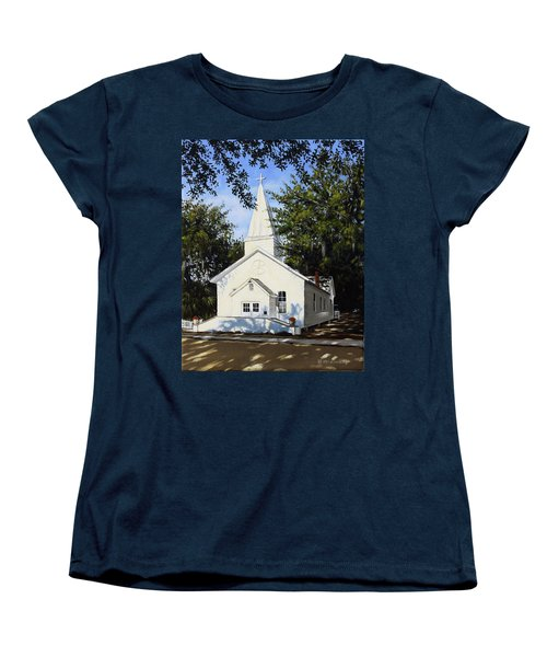Women's T-Shirt (Standard Cut) featuring the painting Old St. Andrew Church by Rick McKinney