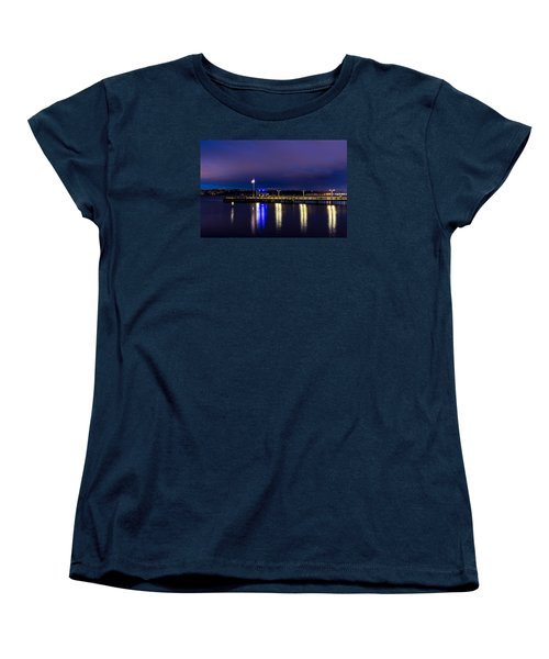 Old Town Pier During The Blue Hour Women's T-Shirt (Standard Cut) by Rob Green
