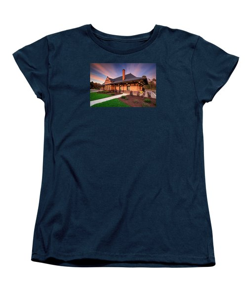 Old Train Station Women's T-Shirt (Standard Cut) by Emmanuel Panagiotakis