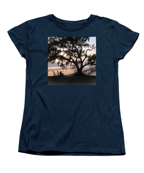 Old Tree At The Dock Women's T-Shirt (Standard Cut) by Christin Brodie