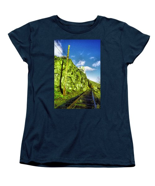 Women's T-Shirt (Standard Cut) featuring the photograph Old Trolly Tracks by Jeff Swan