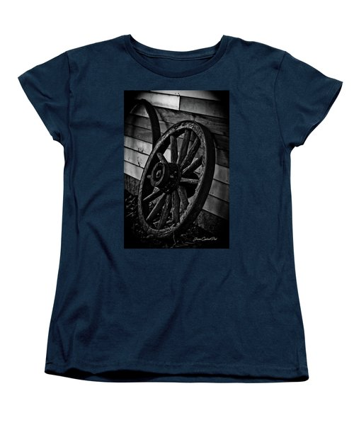 Old Wagon Wheel Women's T-Shirt (Standard Cut) by Joann Copeland-Paul
