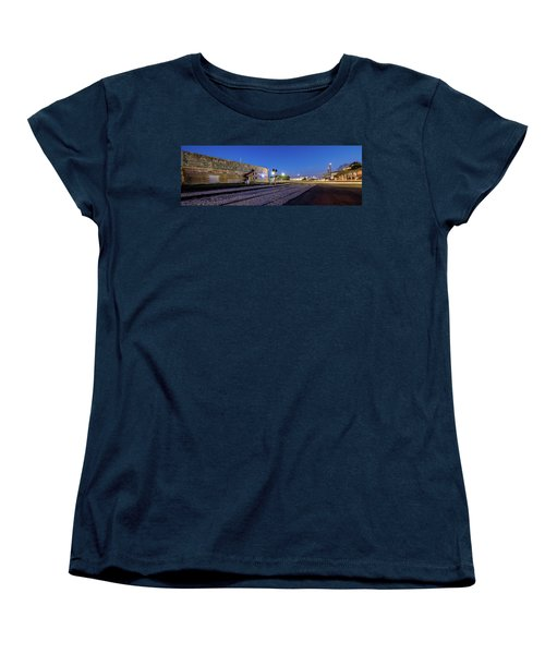 Old Wall Signage - San Antonio  Women's T-Shirt (Standard Cut) by Micah Goff