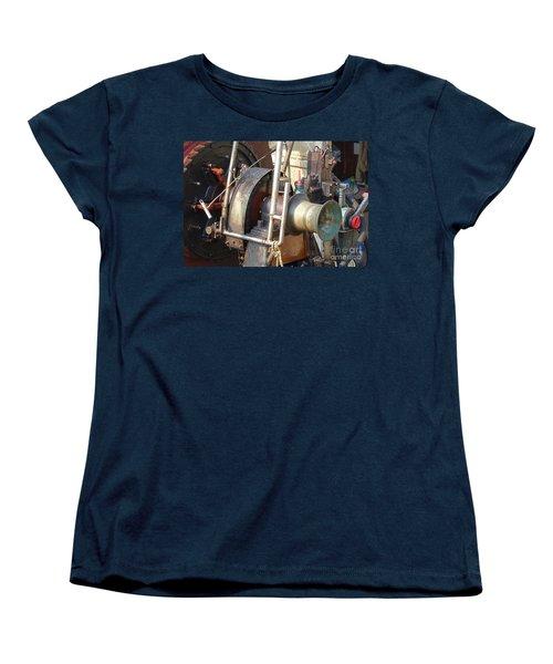 Old Winch On A Fishing Boat Women's T-Shirt (Standard Cut) by Yali Shi