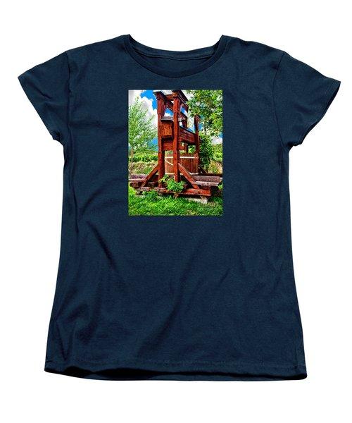 Old Wine Press Women's T-Shirt (Standard Cut) by Mariola Bitner